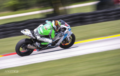 Bobby Fong heading down the back straight